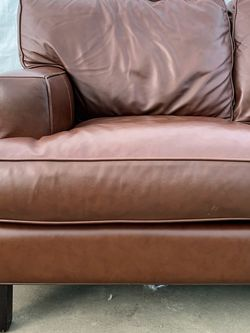 Room & Board Burgundy Real Leather Modern Sofa Delivery Available for Sale in Garden Grove,  CA