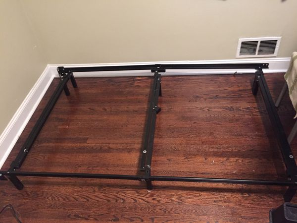 Bed frame almost NEW King queen full twin stand alone metal bed frame