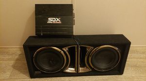 "Sdx pro audio 10"" sub and 2 channel amp for Sale in Forest Hill, TX"