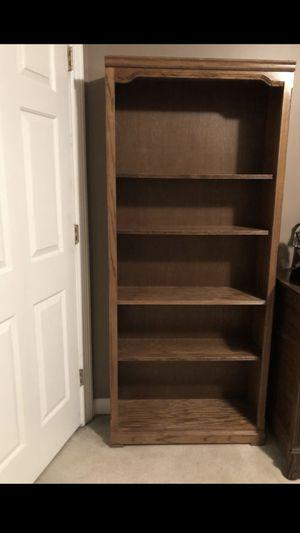 """Solid wood book shelf 70"""" x 32"""" - adjustable shelves for Sale in Smyrna, TN"""