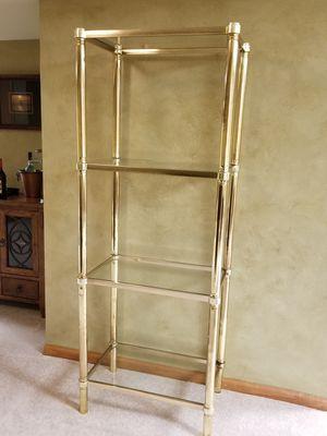 Beautiful brass and glass decorative shelf for Sale in Algonquin, IL