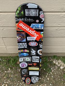 Supreme Sticker Skateboard deck Black for Sale in Sacramento,  CA