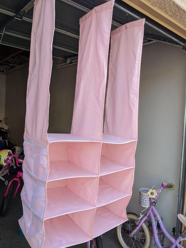 Pink Closet organizer