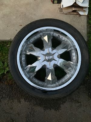 20 inch rims and tires for Sale in Westfield, NJ