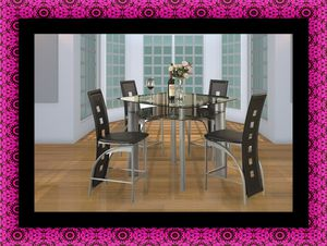 Counter height glass dining table with 4 chairs for Sale in Hyattsville, MD