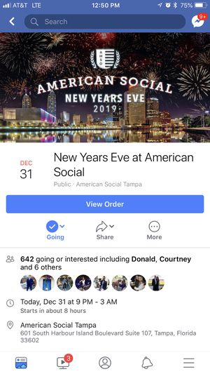New Years Eve at American Social (2 tickets) for Sale in Tampa, FL