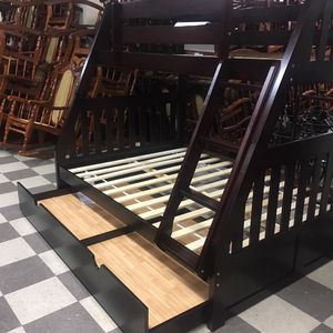 Brand new twin over Full With trundle no mattress $39 Down /// Financing available no credit needed Miriam's furniture 719 *E *9th *Street Hi for Sale in Pompano Beach, FL