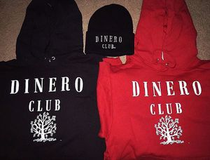 Dinero club red & black hoodies & dinero club black skully for Sale in Atlanta, GA