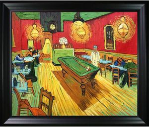 The Night Cafe by Vincent Van Gogh Hand Painted Oil Painting with Black Matte 16X20 for Sale in Pompano Beach, FL