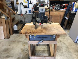 """Rockwell/Delta 12"""" Radial Arm Saw with custom wheeled stand. 1 Phase 1 1/2 HP. for Sale in Leavenworth, WA"""