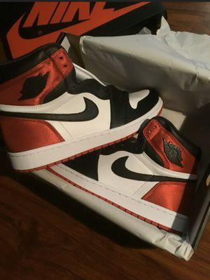 """Jordan 1 """"black toe satin"""" for Sale in McAllen, TX"""