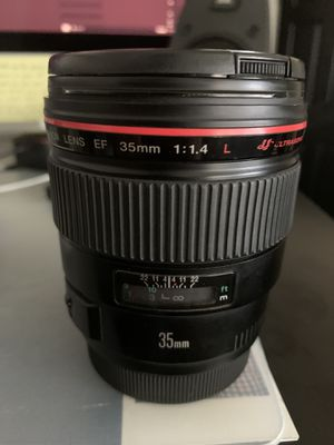 Canon 35mm f1.4L lens for Sale in Redlands, CA