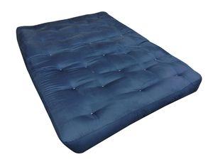 "8"" Navy cotton twill futon mattress for Sale in Houston, TX"