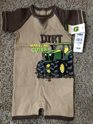 John Deere one piece shorts with tractor from tractor supply - never worn for Sale in Hemet, CA