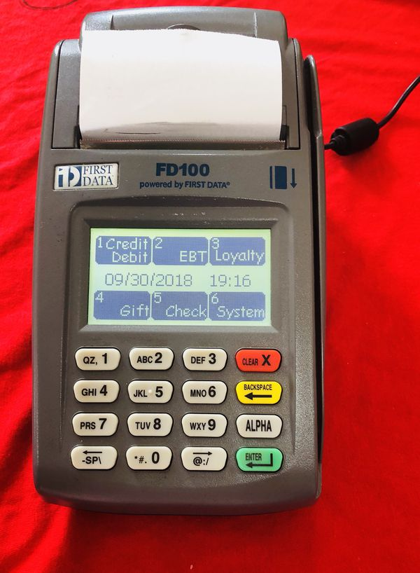FD100 FIRST DATA CREDIT CARD TERMINAL for Sale in Fort Lauderdale, FL -  OfferUp