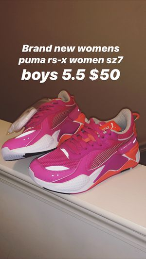 Brand new DS womens size 7 boys 5.5 puma rs-x $50 for Sale in Washington, DC