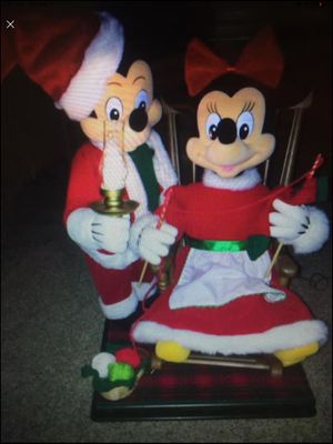 Disney Animated Musical Christmas Mickey Mouse and Minnie Mouse - VERY RARE for Sale in New Port Richey, FL