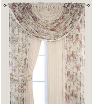 (3) Complete Window Set in a Bag - Rose & Beige - 3 Available for Sale in Atlanta, GA