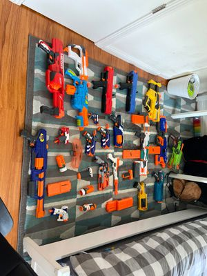 All these nerf guns and bullets are for sale (ON SALE) for Sale in Irvine, CA