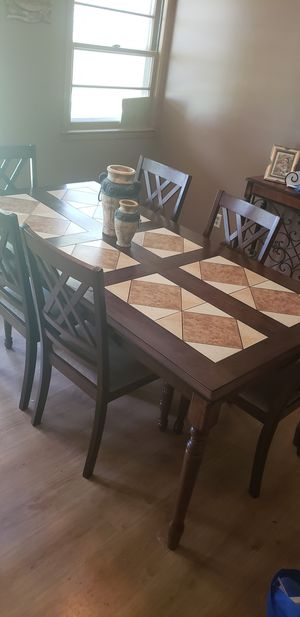 Dining table with 6 chairs for Sale in Wichita, KS