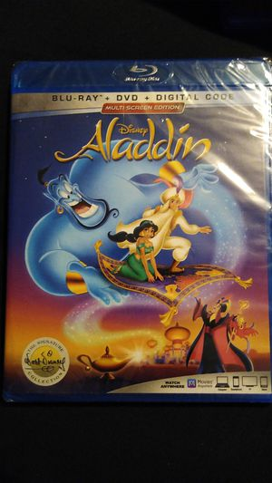 Disney Aladdin blu ray for Sale in Hemet, CA