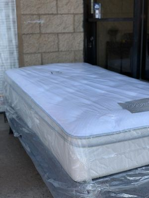 TWIN SIZE ORTHOPEDIC EURO PILLOW-TOP BED BRAND NEW SUPER COMFY MATTRESS for Sale in San Diego, CA