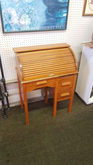 Vintage Kids Childrens Roll top School Desk for Sale in Denver, CO