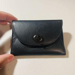 NEW! Coach Black Leather Card Case for Sale in Ontario, CA