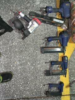 Cambel hausfeld and central pneumatic air nail guns for Sale in Orlando, FL