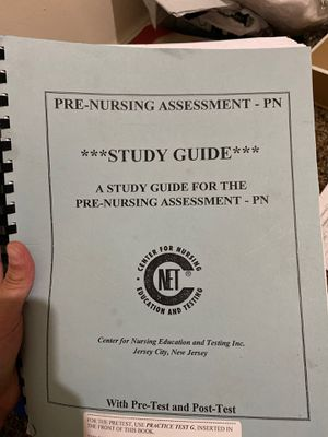 Pre nursing assessment study guide for Sale in Fresno, CA