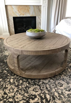 Rustic Faded Wood Coffee Table for Sale in Bogota, NJ