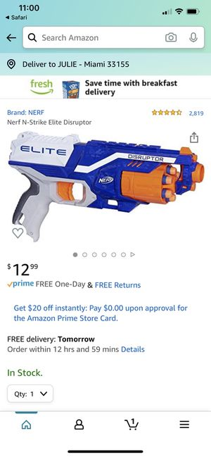 NERF N-Strike Elite Disruptor Toy Gun Pistola for Sale in Miami, FL