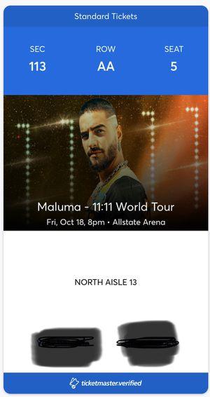 Maluma Ticket for Sale in Chicago, IL