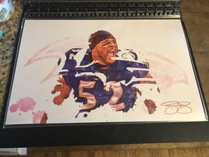 Baltimore Ravens Ray Lewis 11x17 Wall art for Sale in Colorado Springs, CO