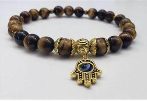 Hamsa Hand charm and Tiger's Eye beads bracelet for Sale in Henderson, NV