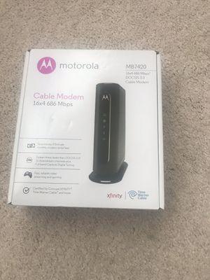 Motorola cable modem for Sale in Nashville, TN
