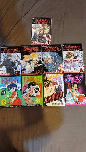 Anime Books. Vampire Knight 1-5, Ranma 1/2 and more. for Sale in La Verne, CA