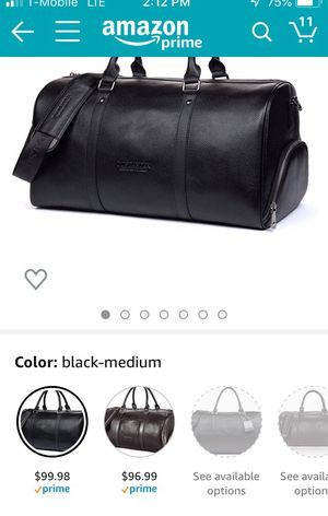 Leather Duffle Bag for Sale in Lemoore, CA