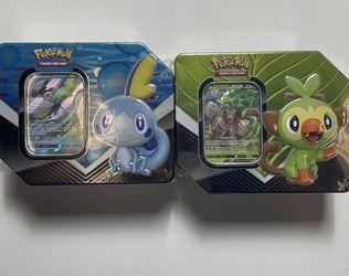 Pokémon Tin lot Tin Rillaboom V Inteleon V for Sale in Burbank,  CA