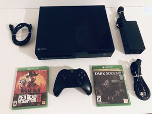 Xbox One W/ Red Dead Redemption And Dark Souls Game W Original Black Controller for Sale in Orlando, FL