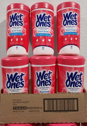 Wet Ones 40 wipes for Sale in Anaheim, CA