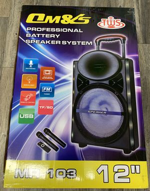 """12"""" Inches Speaker Karaoke W/Two Wireless Microphones Rechargeable battery Remote Control for Sale in Mission Viejo, CA"""