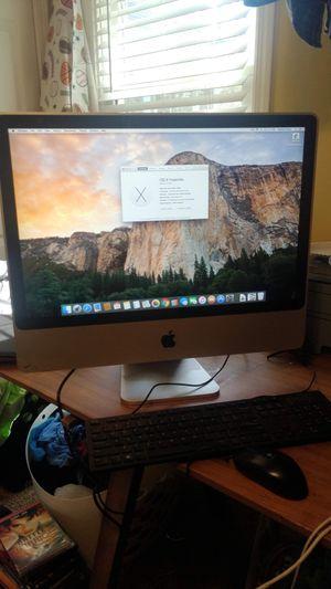 "Apple iMac 24"" high sierra 4gb 500gb dvdrw webcam desktop computer for Sale in Fuquay Varina, NC"