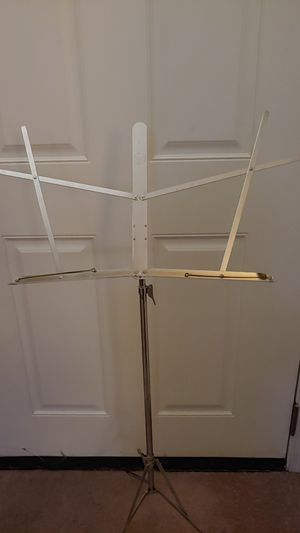 Sheet Music stand tripod collapsible violin viola guitar flute chrome for Sale in Lake Shore, MD