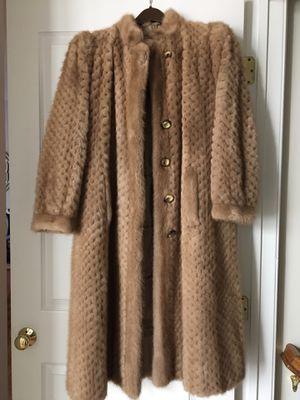 Genuine Light Brown Blond Mink Fur Vintage Coat for Sale in Rockville, MD