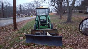 JOHN DEERE 4610 TRACTOR WITH HEATED CAB DRAG BOX WITH SCARIER AND A 460 LOADER AND 6 FOOT POWER ANGLE SNOW PLOW for Sale in Monroe Township, NJ