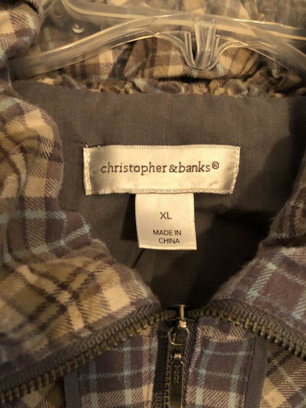 Christopher & Banks hoodie jacket XL