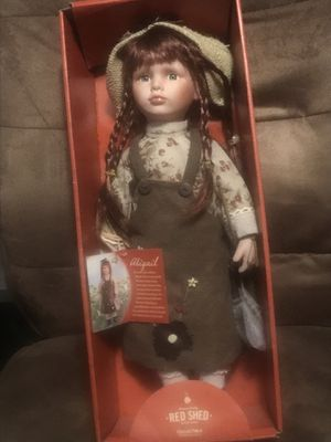 Antique porcelain doll red shed Abigail very rare new in box for Sale in Augusta, GA