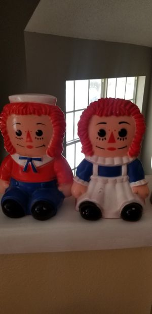 Raggedy Ann & Andy collectible Coin Banks for Sale in Miramar, FL