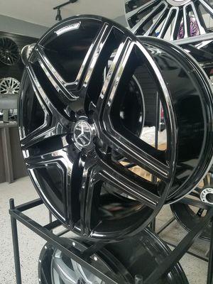 PRICE PER WHEEL 22X10 Mercedes style rim gloss black wheels fits GL GLE ML R class for Sale in Tempe, AZ